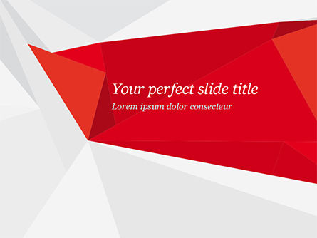 Abstract/Textures: Red Paper Origami Polygonal Shape PowerPoint Template #14903