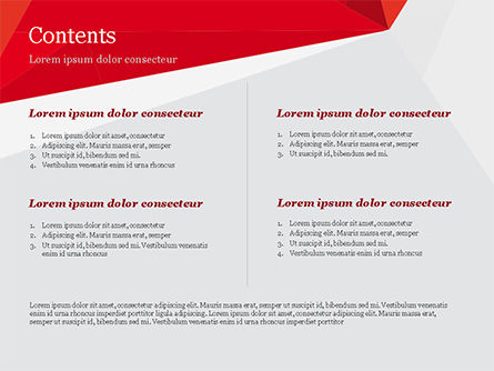Red Paper Origami Polygonal Shape PowerPoint Template Slide 2