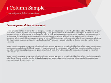 Red Paper Origami Polygonal Shape PowerPoint Template Slide 4