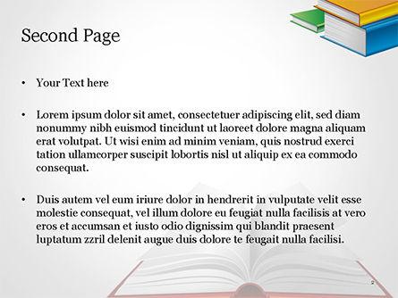 Books PowerPoint Template, Slide 2, 14906, Education & Training — PoweredTemplate.com