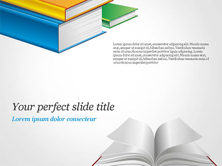 Books PowerPoint Template, 14906, Education & Training — PoweredTemplate.com