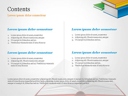 Books PowerPoint Template, Slide 2, 14906, Education & Training — PoweredTemplate.com