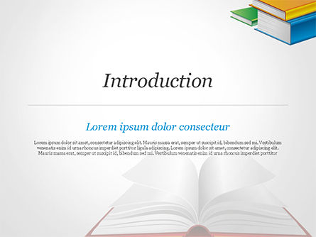 Books PowerPoint Template, Slide 3, 14906, Education & Training — PoweredTemplate.com