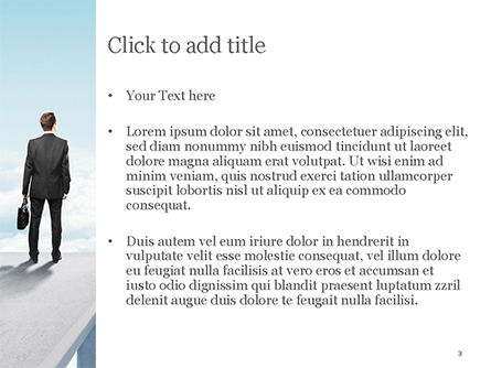 Businessman Standing on Pier PowerPoint Template, Slide 3, 14907, Business Concepts — PoweredTemplate.com