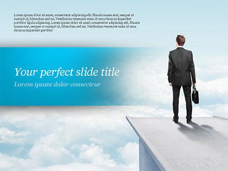 Businessman Standing on Pier PowerPoint Template, 14907, Business Concepts — PoweredTemplate.com