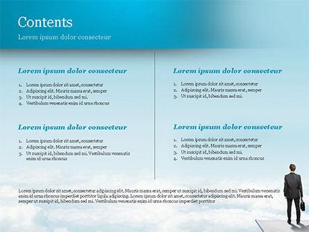 Businessman Standing on Pier PowerPoint Template, Slide 2, 14907, Business Concepts — PoweredTemplate.com