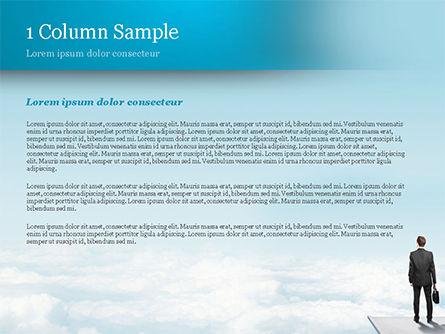 Businessman Standing on Pier PowerPoint Template Slide 4