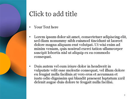 Colorful Paper Circles PowerPoint Template, Slide 3, 14910, Abstract/Textures — PoweredTemplate.com