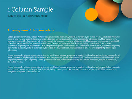 Colorful Paper Circles PowerPoint Template, Slide 4, 14910, Abstract/Textures — PoweredTemplate.com