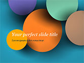 Abstract/Textures: Colorful Paper Circles PowerPoint Template #14910