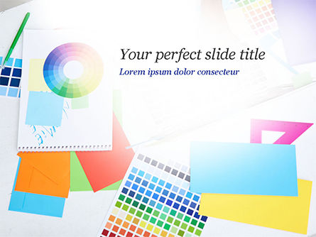 Graphic Design Tools PowerPoint Template, 14911, Careers/Industry — PoweredTemplate.com