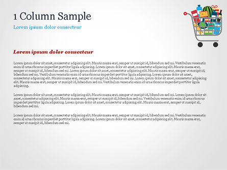 Shopping Trolley of Food PowerPoint Template, Slide 4, 14913, Careers/Industry — PoweredTemplate.com