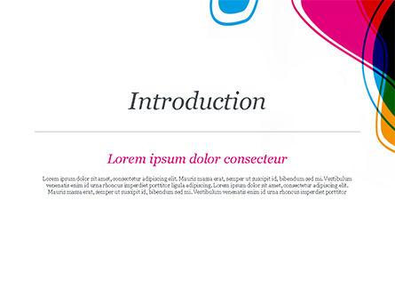 Abstract Color Spots PowerPoint Template, Slide 3, 14914, Abstract/Textures — PoweredTemplate.com