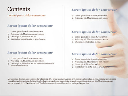 Business Man Shows Thumb Up PowerPoint Template, Slide 2, 14915, Business Concepts — PoweredTemplate.com