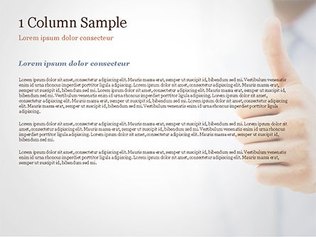 Business Man Shows Thumb Up PowerPoint Template, Slide 4, 14915, Business Concepts — PoweredTemplate.com