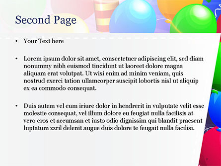 Happy Birthday Card Design PowerPoint Template, Slide 2, 14918, Holiday/Special Occasion — PoweredTemplate.com