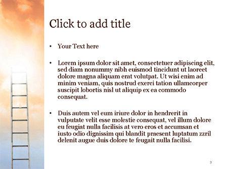 Ladder to The Sky PowerPoint Template, Slide 3, 14919, Religious/Spiritual — PoweredTemplate.com