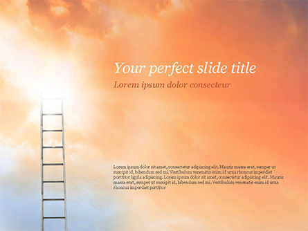 Religious/Spiritual: Ladder to The Sky PowerPoint Template #14919
