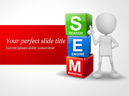 Careers/Industry: Search Engine Marketing PowerPoint Template #14923