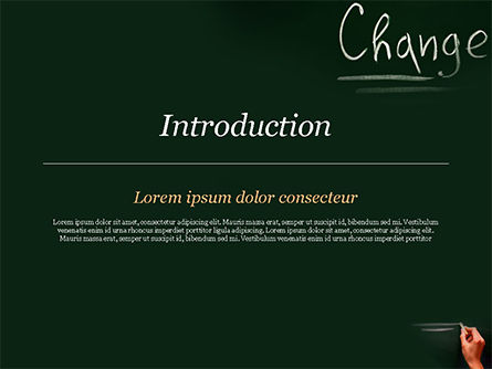 Blackboard Concept for The Word Change PowerPoint Template, Slide 3, 14924, Education & Training — PoweredTemplate.com