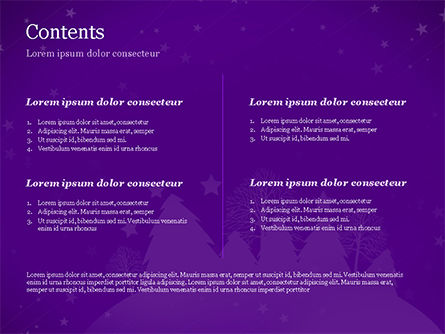 Christmas Holiday Background PowerPoint Template, Slide 2, 14928, Holiday/Special Occasion — PoweredTemplate.com