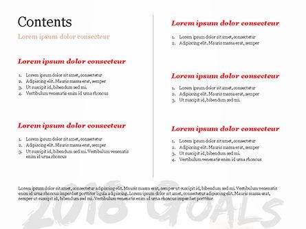2018 Goals PowerPoint Template, Slide 2, 14932, Business Concepts — PoweredTemplate.com