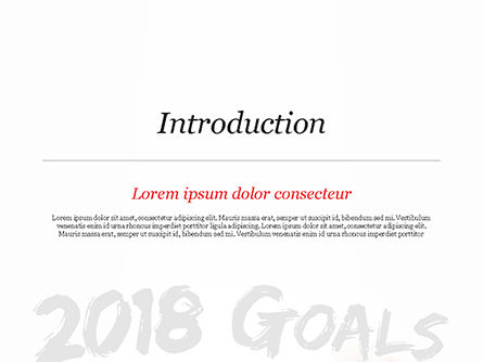 2018 Goals PowerPoint Template, Slide 3, 14932, Business Concepts — PoweredTemplate.com