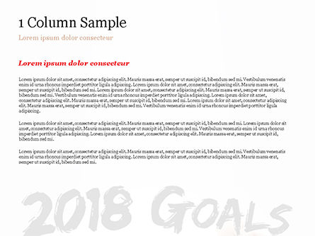 2018 Goals PowerPoint Template, Slide 4, 14932, Business Concepts — PoweredTemplate.com