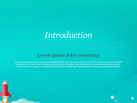 Pencil Rocket Takeoff PowerPoint Template, Slide 3, 14933, Business Concepts — PoweredTemplate.com