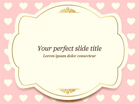 Holiday/Special Occasion: Label Frame on Hearts Background PowerPoint Template #14934