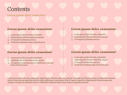 Label Frame on Hearts Background PowerPoint Template, Slide 2, 14934, Holiday/Special Occasion — PoweredTemplate.com