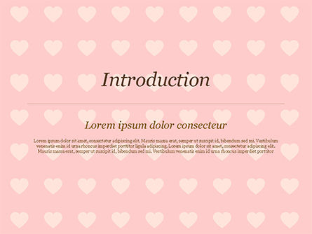 Label Frame on Hearts Background PowerPoint Template, Slide 3, 14934, Holiday/Special Occasion — PoweredTemplate.com