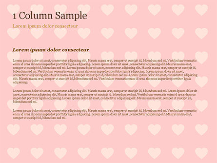 Label Frame on Hearts Background PowerPoint Template, Slide 4, 14934, Holiday/Special Occasion — PoweredTemplate.com