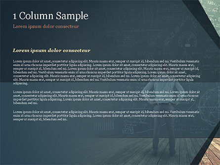 Man Looking at the Chalkboard with Formulas PowerPoint Template, Slide 4, 14938, Education & Training — PoweredTemplate.com