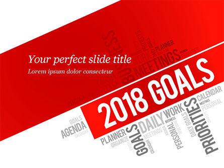 2018 Goals Word Cloud PowerPoint Template, 14941, Business Concepts — PoweredTemplate.com