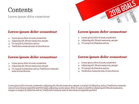 2018 Goals Word Cloud PowerPoint Template, Slide 2, 14941, Business Concepts — PoweredTemplate.com