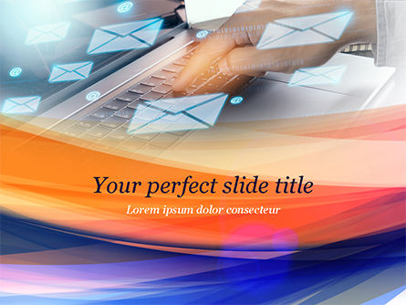 Telecommunication: E-mail Management Concept PowerPoint Template #14942