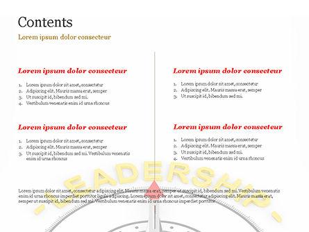 Leadership Compass Concept PowerPoint Template, Slide 2, 14947, 3D — PoweredTemplate.com