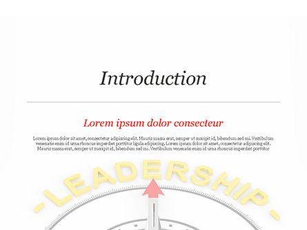 Leadership Compass Concept PowerPoint Template, Slide 3, 14947, 3D — PoweredTemplate.com