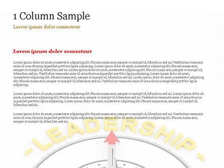 Leadership Compass Concept PowerPoint Template, Slide 4, 14947, 3D — PoweredTemplate.com