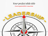 3D: Leadership Compass Concept PowerPoint Template #14947