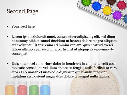 Painting Accessories Illustration PowerPoint Template, Slide 2, 14949, Art & Entertainment — PoweredTemplate.com