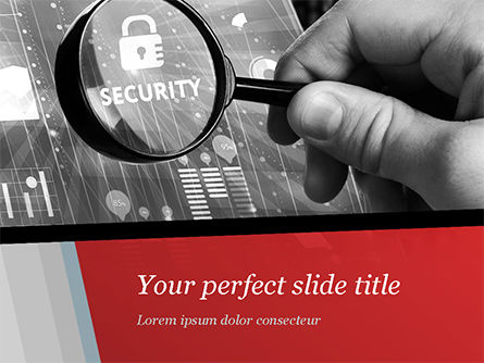 Information Data Security Concept PowerPoint Template, 14950, Technology and Science — PoweredTemplate.com