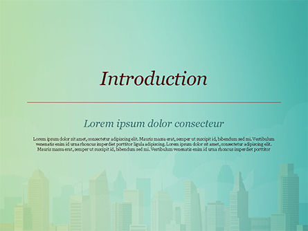 Metropolitan Area PowerPoint Template, Slide 3, 14951, Construction — PoweredTemplate.com
