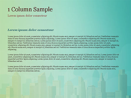 Metropolitan Area PowerPoint Template, Slide 4, 14951, Construction — PoweredTemplate.com