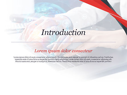 Woman Using Laptop to Connect Social Network PowerPoint Template, Slide 3, 14957, 3D — PoweredTemplate.com