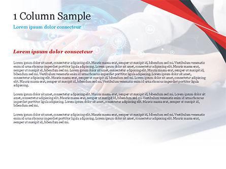 Woman Using Laptop to Connect Social Network PowerPoint Template, Slide 4, 14957, 3D — PoweredTemplate.com