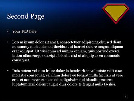 Superman Sign Frame PowerPoint Template, Slide 2, 14958, Abstract/Textures — PoweredTemplate.com