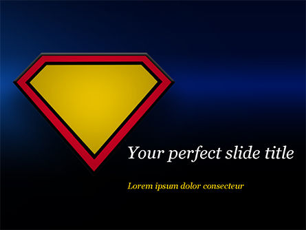 Superman Sign Frame PowerPoint Template, 14958, Abstract/Textures — PoweredTemplate.com