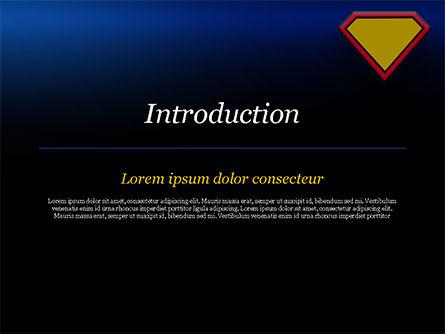 Superman Sign Frame PowerPoint Template, Slide 3, 14958, Abstract/Textures — PoweredTemplate.com